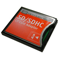 SD/SDHC to CF Adapter